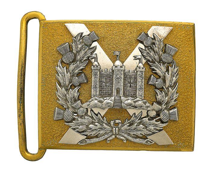 British; King's Own Scottish Borderers, Officer's waist belt plate, post 1881