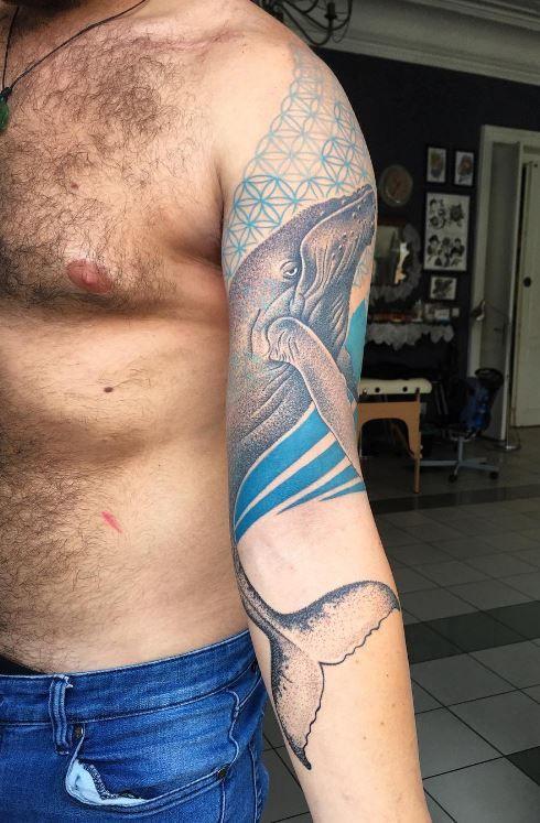 Peaceful Whale Tattoo