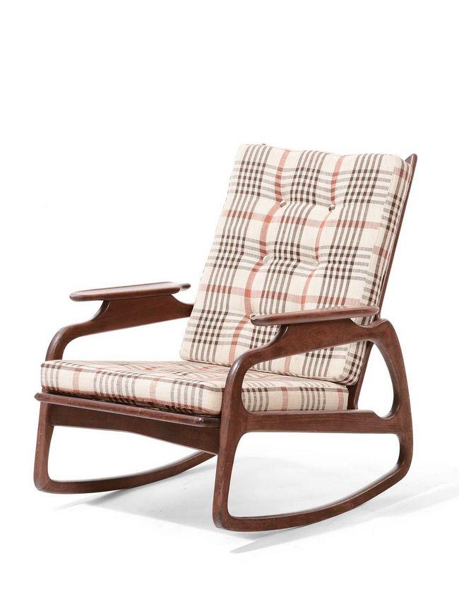 Finn Juhl Attributed; Teak Rocking Chair, 1950s.