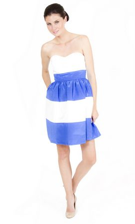 Sassy Stripes, but in cobalt and black