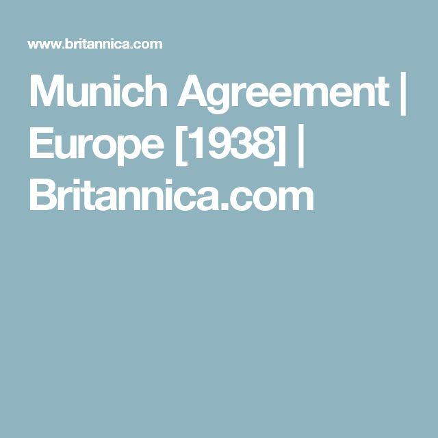Munich Agreement | Europe [1938] | Britannica.com