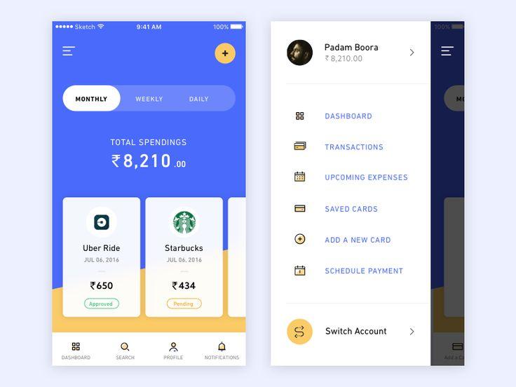 Mobile menu inspiration – Muzli -Design Inspiration