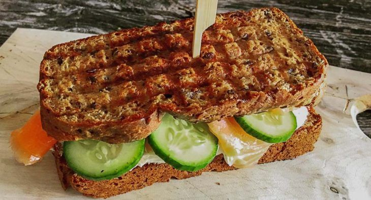 Low Carb Brot für Sandwiches (Eiweißbrot) | http://www.backenmachtgluecklich.de