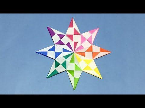 【折り紙】おしゃれな星の折り方【音声解説あり】ダイヤモンドスターの作り方 大人向け - YouTube