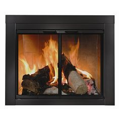 Ardmore Fireplace Glass Door - Black   WoodlandDirect.com: Fireplace Doors, Residential Retreat