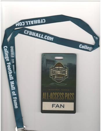 Image result for college football hall of fame lanyard