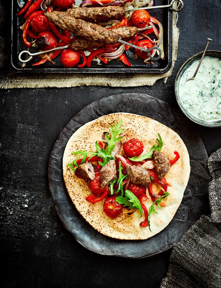 Lamb Kofta Recipe with Cucumber Raita Check out our super simple recipe for lamb koftas and easy roasted red peppers. This dish is high in protein and low in calories, perfect for a midweek meal for four