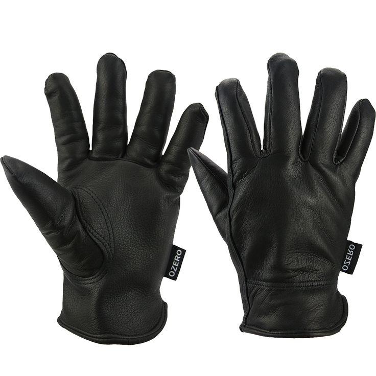 New Racing Motorcycle Gloves High Quality Deerskin Sports Gloves Warm Waterproof Ski Skiing Hiking Yellow for Men