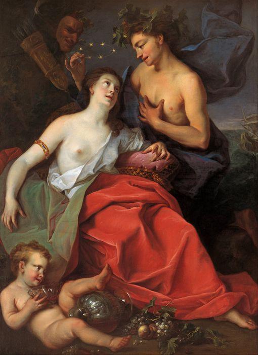 Бесплатная доставка классическая фигура ню женщин и ребенок фрукты картина маслом холстины, печать на холсте стены украшения искусства фотографии