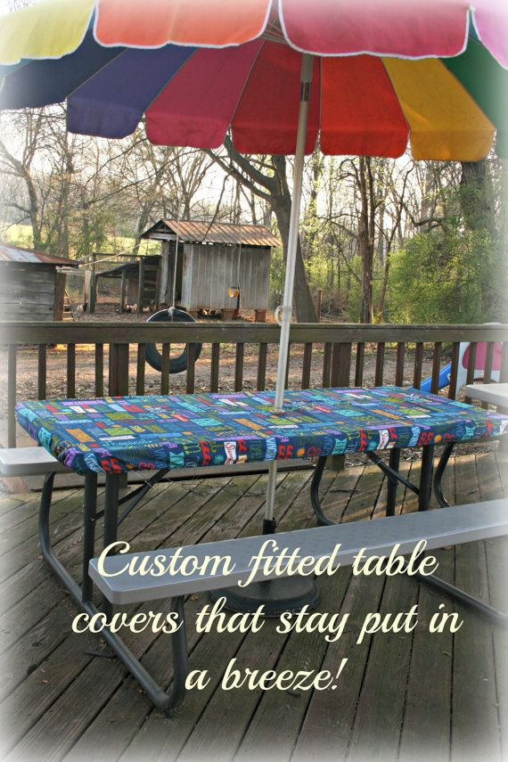Table Covers/ Picnic Table Covers/ Stay Put by KeepersAtHome10