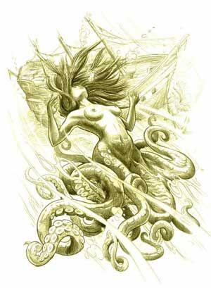 Mermaid octopus beast of the depths!!!