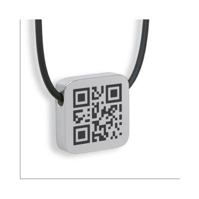 QR code necklace pendant-I <3 Geeks