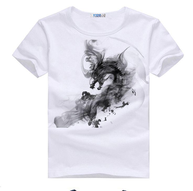 Ucuz 2015 yaz tarzı erkek müşteri sipariş baskı t gömlek erkek pamuk kendinden tasarım beyaz t  shirt erkek mürekkep ejderha tee siyah t shirt, Satın Kalite T- shirt doğrudan Çin Tedarikçilerden: Bu 2015 yaz tarzı erkek müşteri sipariş baskı t shirt yapılır 100% pamuk tarak pamuklu kumaş, bu erkek t- shirt mürekkep