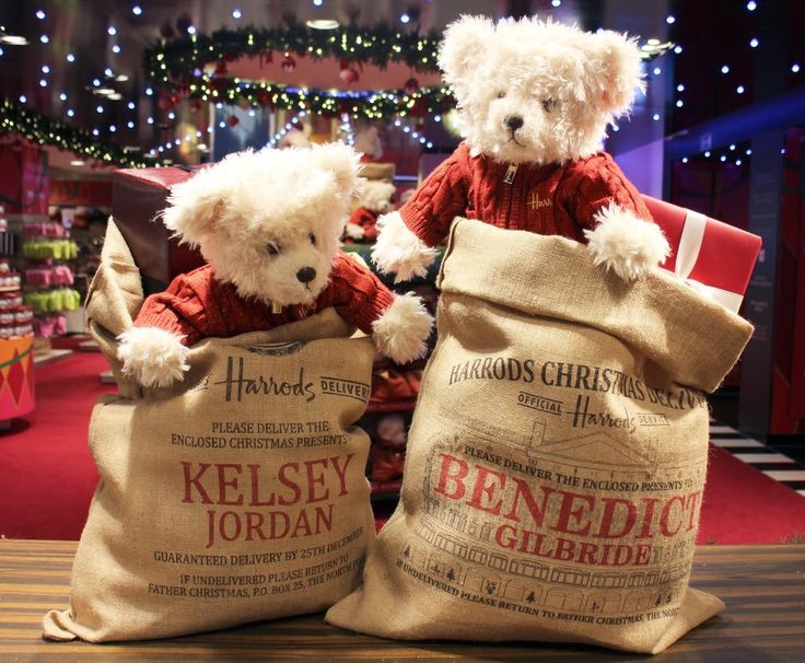 Christmas bears at Harrods