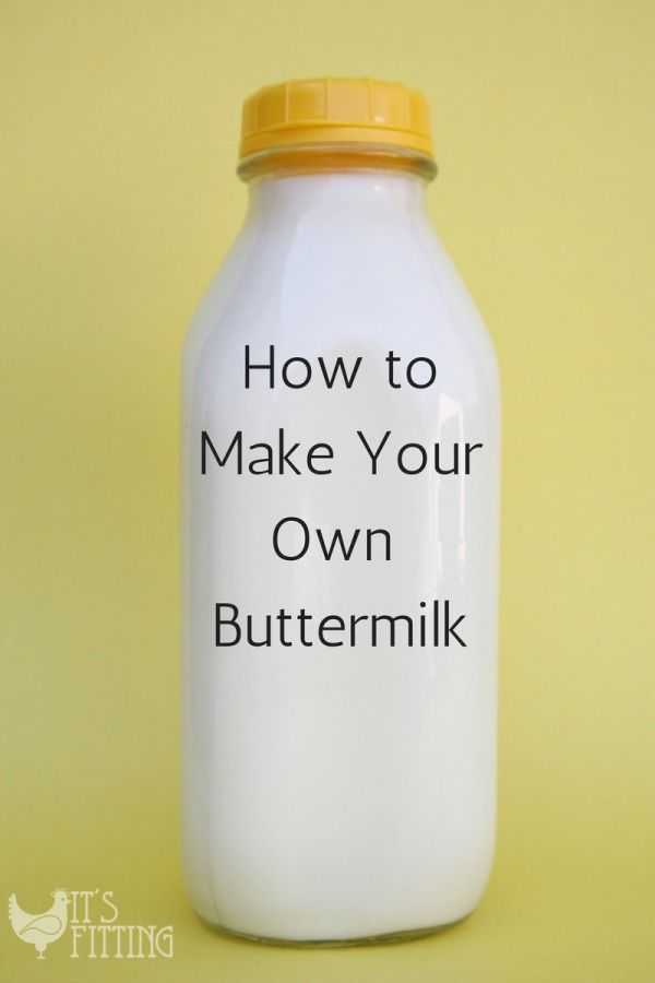 Ever wanted to make fried chicken or buttermilk pancakes and *facepalm* don't have any buttermilk? Make some at home in less than 5 minutes!