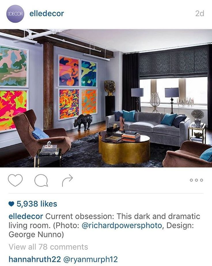 Another Repost This One From Elledecor The Living Room Of Flairs Co