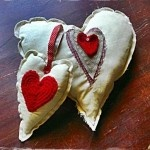 Heart Cushion and Mobile Set