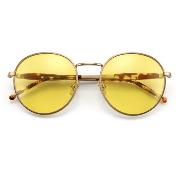 Fox Hunt Dakota Sunglasses Wildfox ($189) ❤ liked on Polyvore featuring accessories, eyewear, sunglasses, oversized vintage sunglasses, yellow lens glasses, wildfox sunglasses, oversized sunglasses and dark sunglasses
