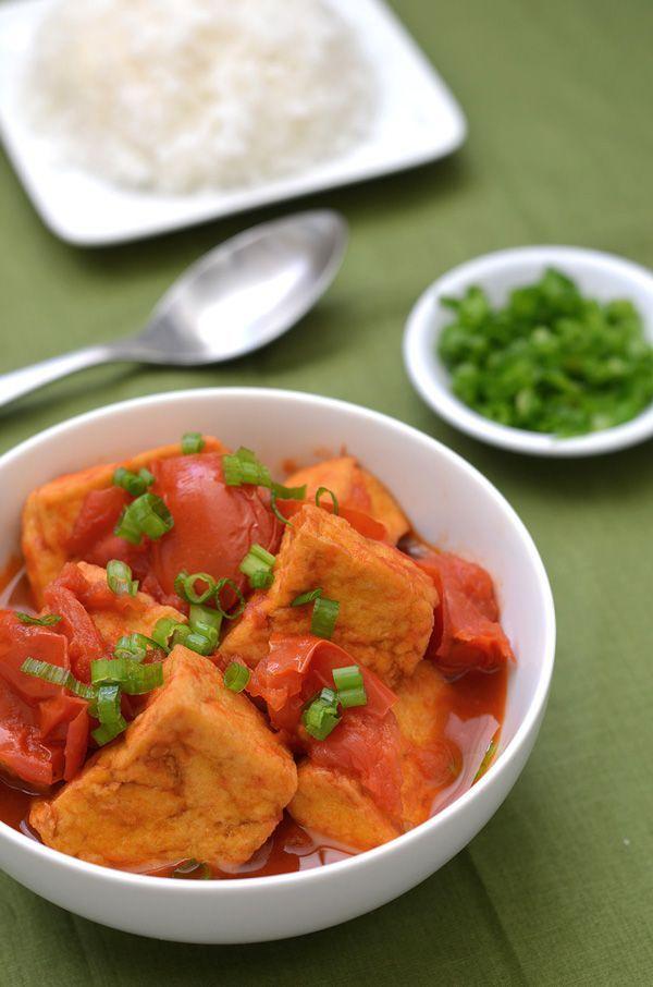 Easy recipe!: Fried Tofu in Tomatoes (Vietnamese Dau Sot Ca Chua)