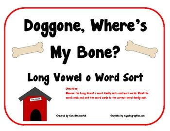 This activity allows students to practice sorting Long Vowel o word family words. Includes cover/direction sheet, 31 bone word cards, and 7 Long Vo...