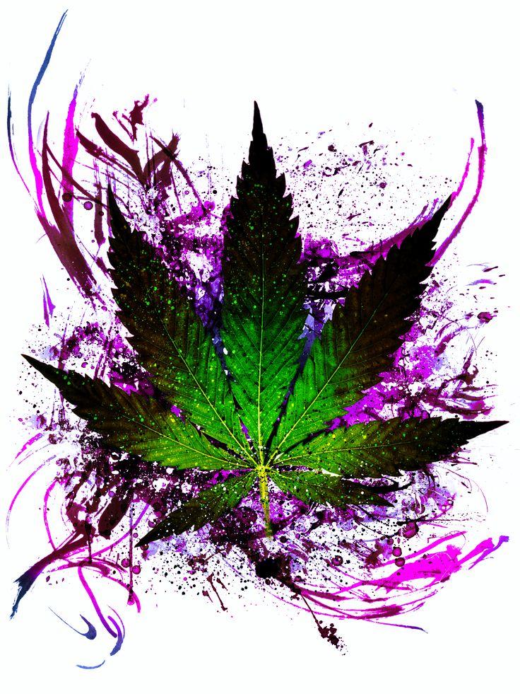 Tattoo idea. Cannabis leaf.