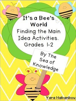 ... the maion idea, the topic sentence and the supporting details. $3.50