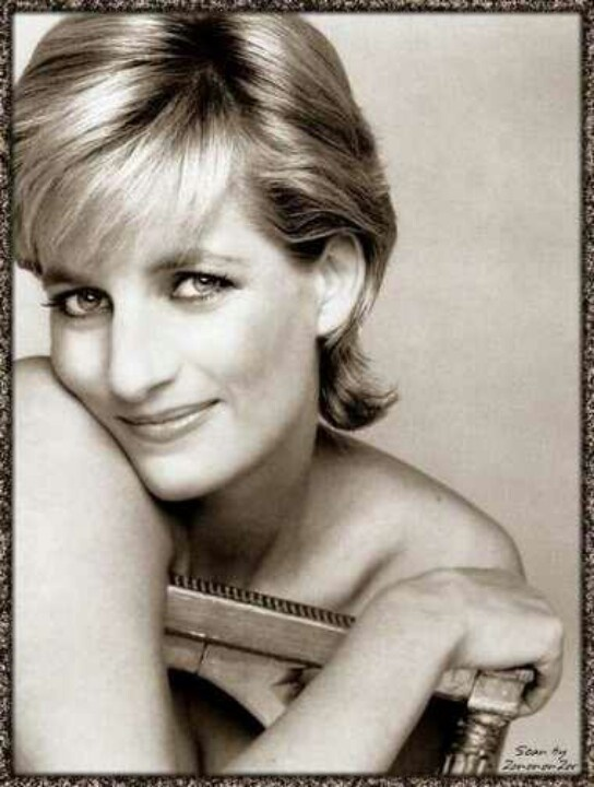 Princess Diana...  good hair...