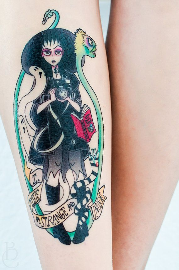 Lydia Deetz Beetlejuice Temporary Tattoo by SeventhSkin on Etsy I WANT THIS TATTOOED ON ME FOREVER