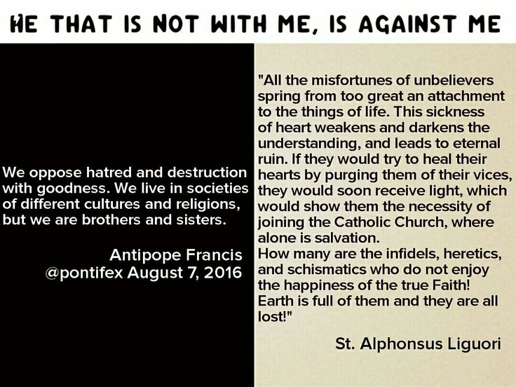 """Against the error of the real reason there's hatred and destruction in the world, St. Alphonsus Liguori teaches: """"All the misfortunes of unbelievers spring from to great an attachment to the things of life."""""""