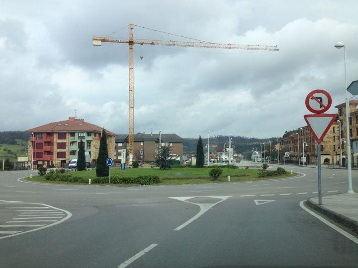 Rotonda Soto Del Barco en Soto del Barco, Asturias