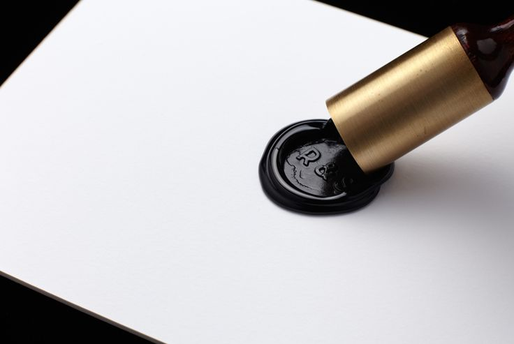 Wedding invitations with wax seal detail designed by Hi Ho