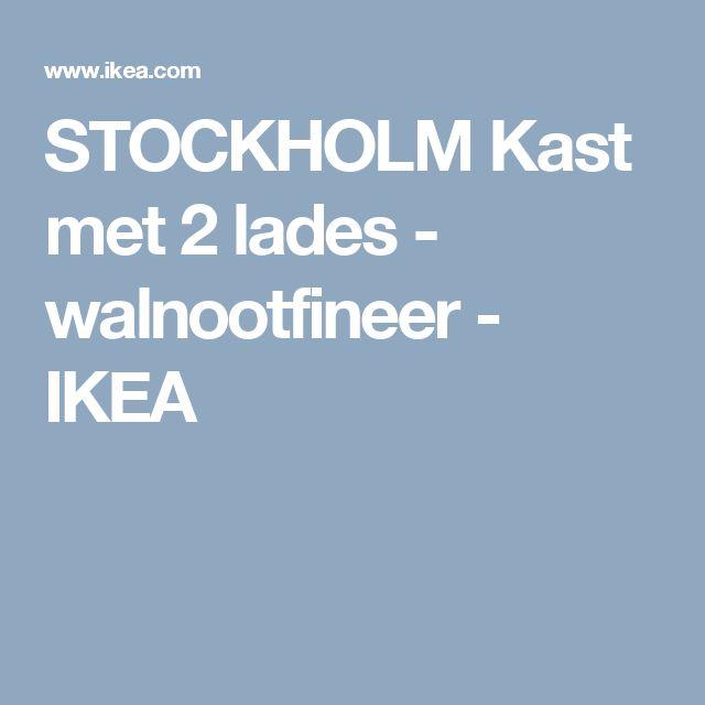 STOCKHOLM Kast met 2 lades - walnootfineer - IKEA
