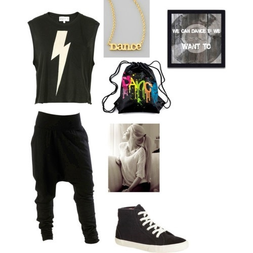 Hip Hop Dance Polyvore Outfit | Now Thatu0026#39;s Gangster | Pinterest | Logos Harems And Dance Uniforms
