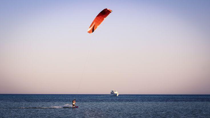 Light wind session in Egypt #Flysurfer #speed5