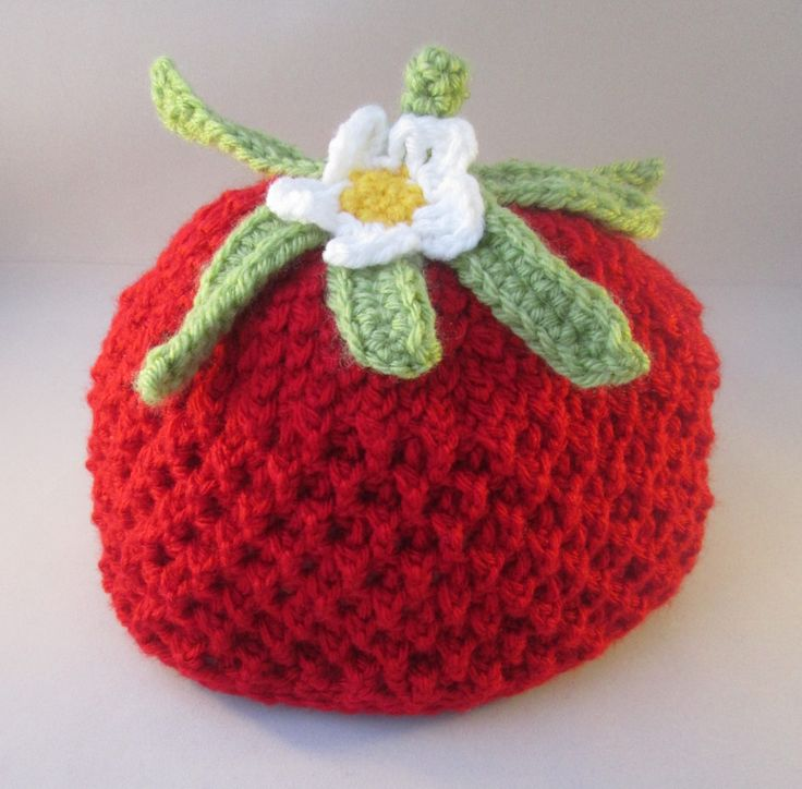 Sweet Strawberry Handmade Crocheted Baby/ Toddler Hat by LightsCameraCrochet on Etsy