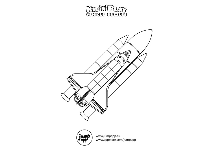 space shuttle outline printables - photo #25