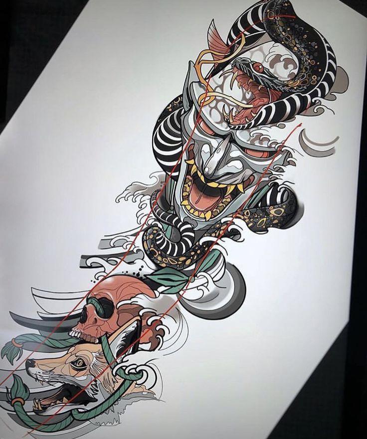 Samurai Tatuajes Japoneses Disenos De Tatuaje Japones Tatuaje Yakuza