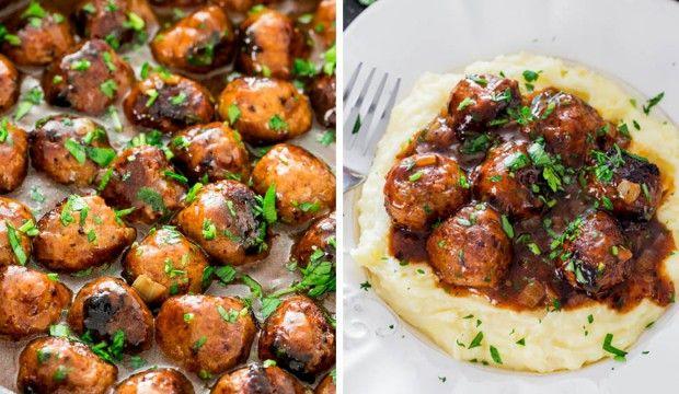 Masové kuličky s omáčkou – výborné k bramborové kaši