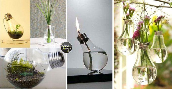 Riciclo lampadine: 13 idee design con le tue vecchie lampadine! Video Tutorial…