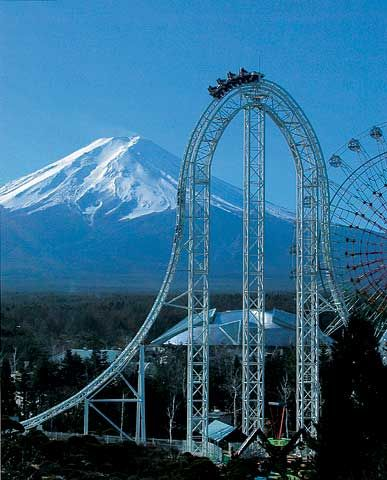 Visit Japan and ride as many roller coasters as possible!!!  The largest, fastes, and steepest ones!