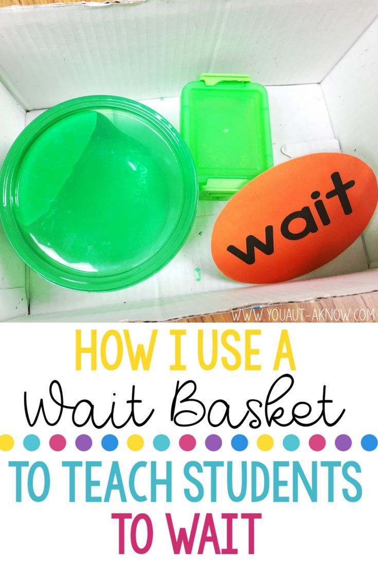 My Wait Basket is one of my favorite tools in my Autism Classroom. This classroom idea helped me keep students hands busy while I tend to other classroom issues that arise throughout the day.