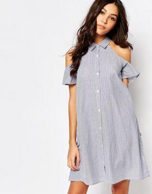 Influence – Weites schulterfreies Kleid