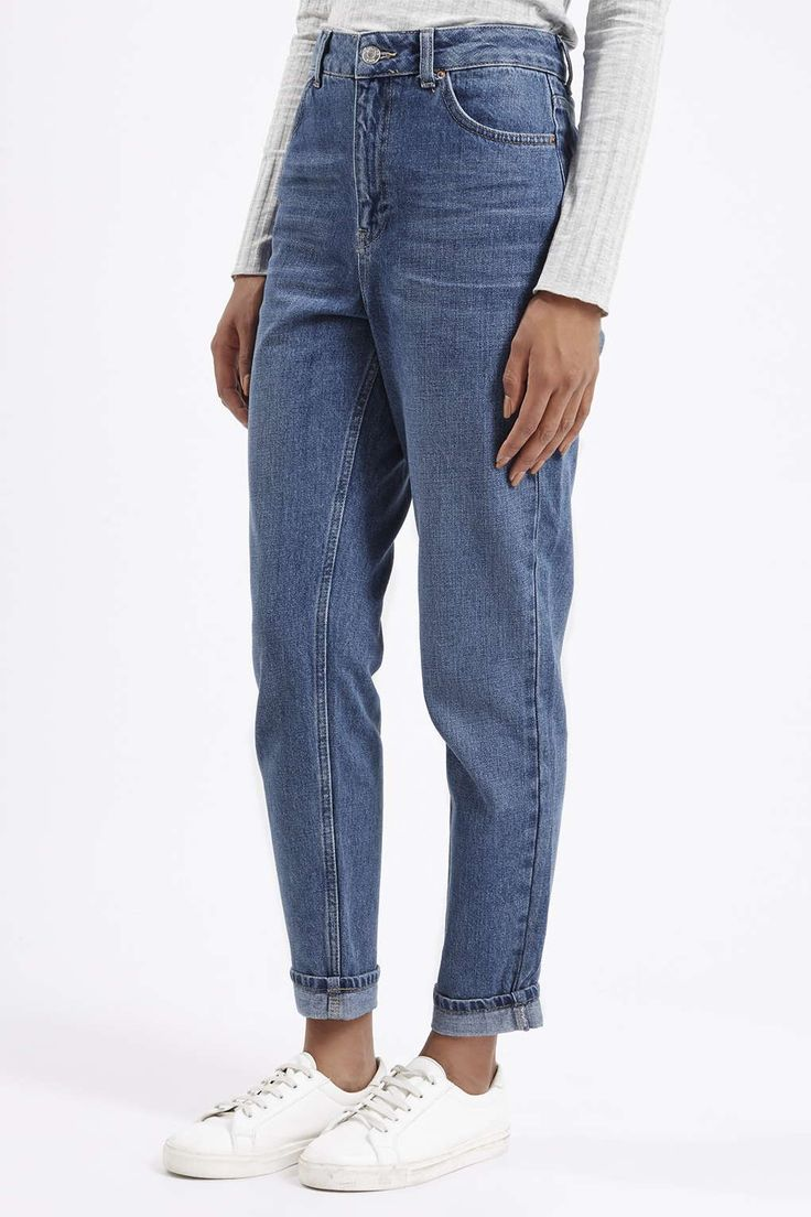 Photo 2 of MOTO Dark Blue Mom Jeans                                                                                                                                                                                 More
