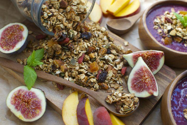 Superfood granola med kanel og ingefær
