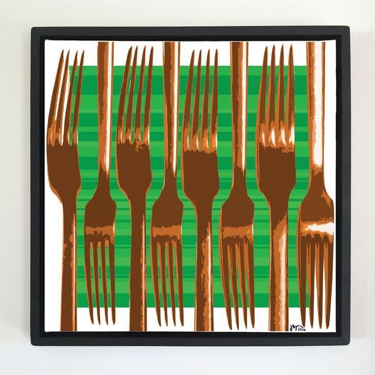 """Overflow series: """"Eat Factory"""" art. 24 x 24 inch, digital art & gloss and matte gel on stretched canvas. 26.5 x 26.5 inch, float frame - black flat. ---------------------------------------- #popart #popartist #digitalart #art #artist #contemporaryart #colorfield #abstractart #gloss #matte #art #canvas #jonsavagegallery"""