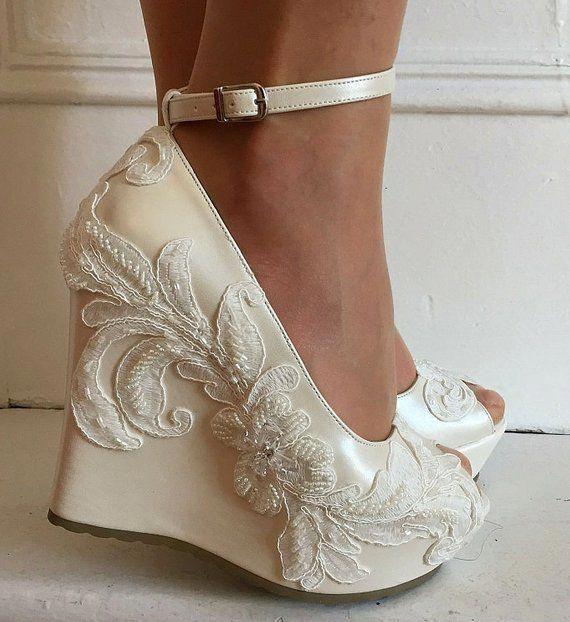 Wedding Wedding Wedge Shoes Bridal Wedge Shoesbridal Etsy Weddingshoes Wedge Wedding Shoes Bride Shoes Wedges Bridal Wedges