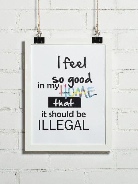 Plakat - I feel so good in my home 30x40 cm - BonzooBox - Wydruki i plakaty