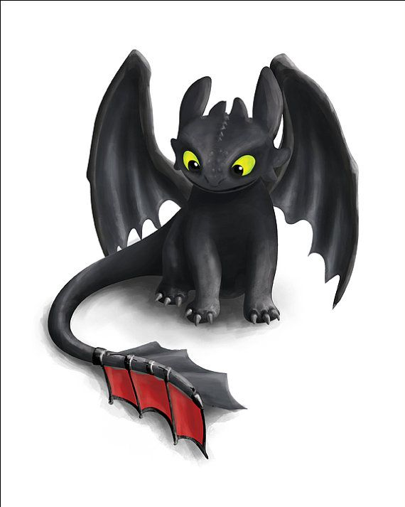 Toothless Inspired Dragon, How To Train Your Dragon, Printable Poster, Instant Download, 8×10 and 11×14 prints