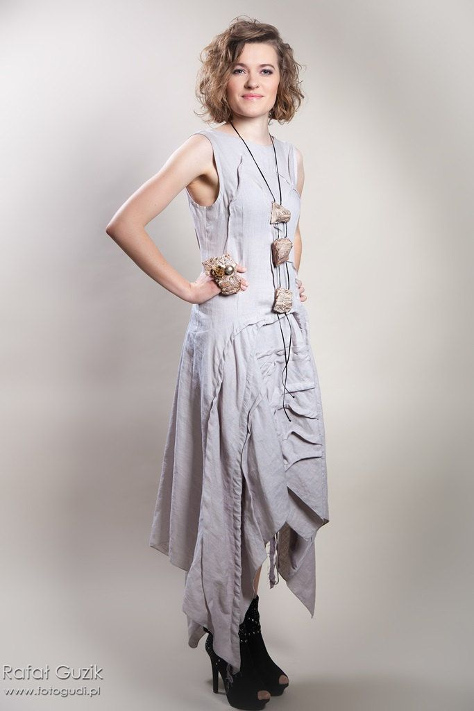 loose dress,mothers day gift, gray dress, linen dress, linen clothing,women dresses, maxi dress by EsteraGrabarczyk on Etsy