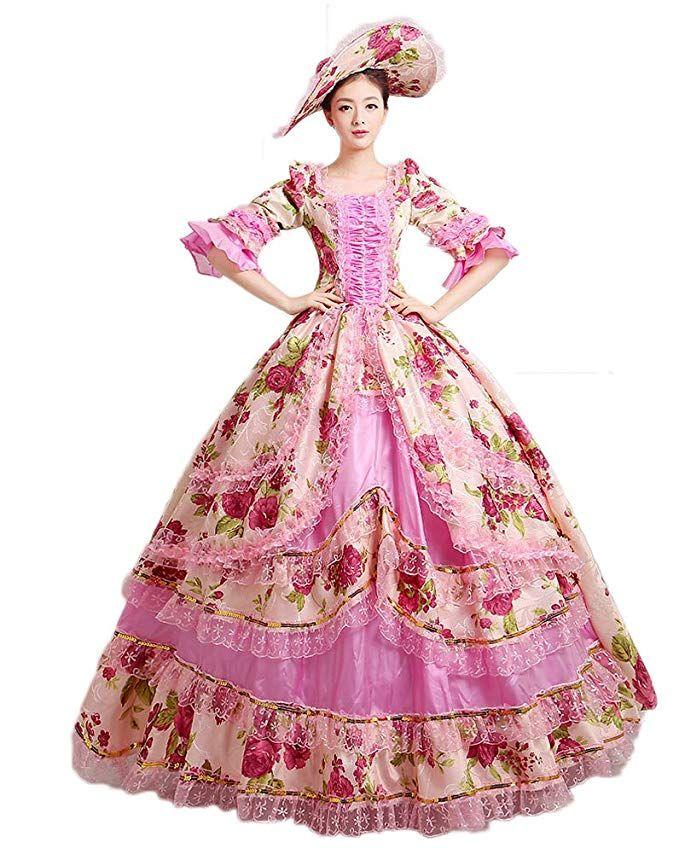 d2298a6536 Amazon.com  Zukzi Women s Prom Gothic Victorian Fancy Palace Masquerade  Dresses  Clothing